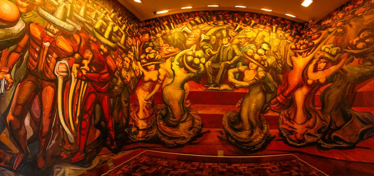 Castillo de chapultepec for El mural de siqueiros